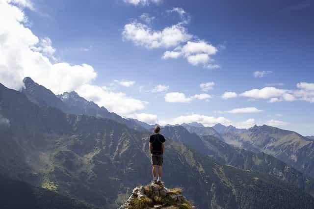 isolieren, nach oben, berge