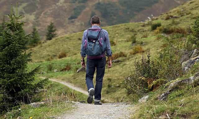 wanderer, rucksack, wanderung