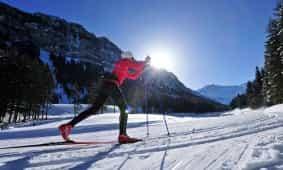 Langlaufen im Winterwunderland Steg in Liechtenstein